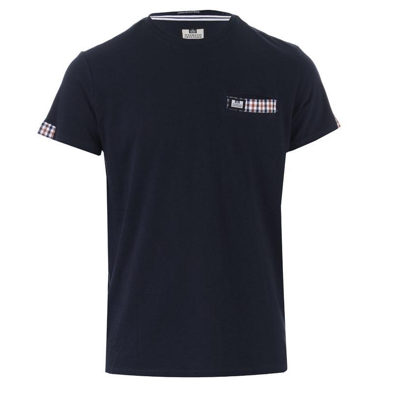 Tričko Weekend Offender Mens Verona Woven Pocket T-Shirt Navy