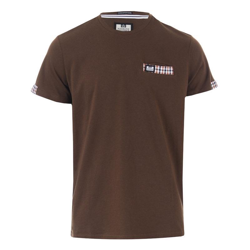 Tričko Weekend Offender Mens Verona Woven Pocket T-Shirt Green