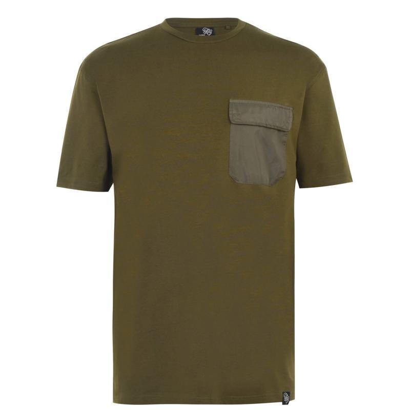 Tričko Fabric Pocket T Shirt Mens Khaki