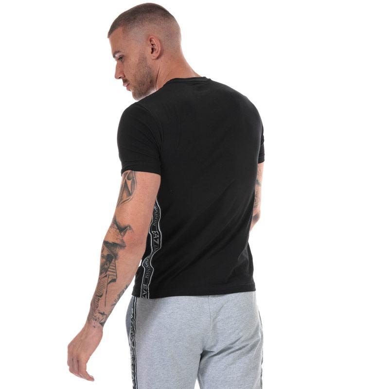 Tričko Emporio Armani EA7 Mens Logo Tape T-Shirt Black
