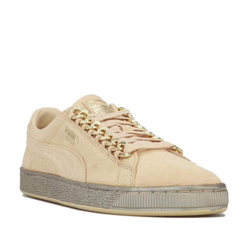Puma Mens Suede Classic X-Chains Trainers Gold