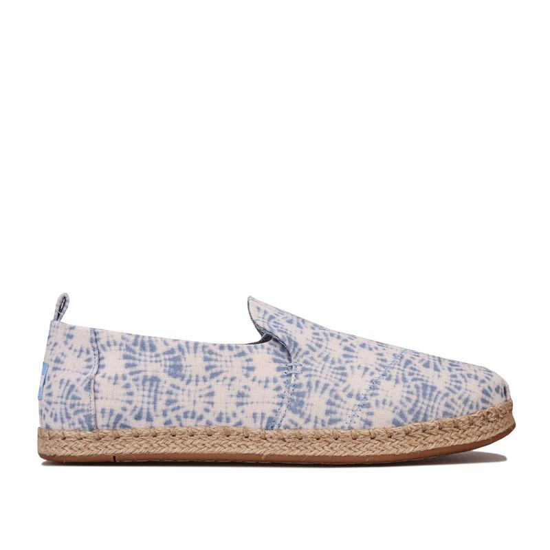 Obuv Toms Womens Deconstructed Rope Espadrille Pumps White blue