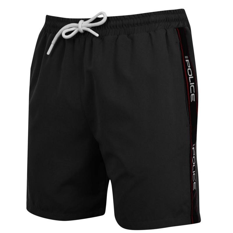 Plavky 883 Police Boiler Swim Shorts Black