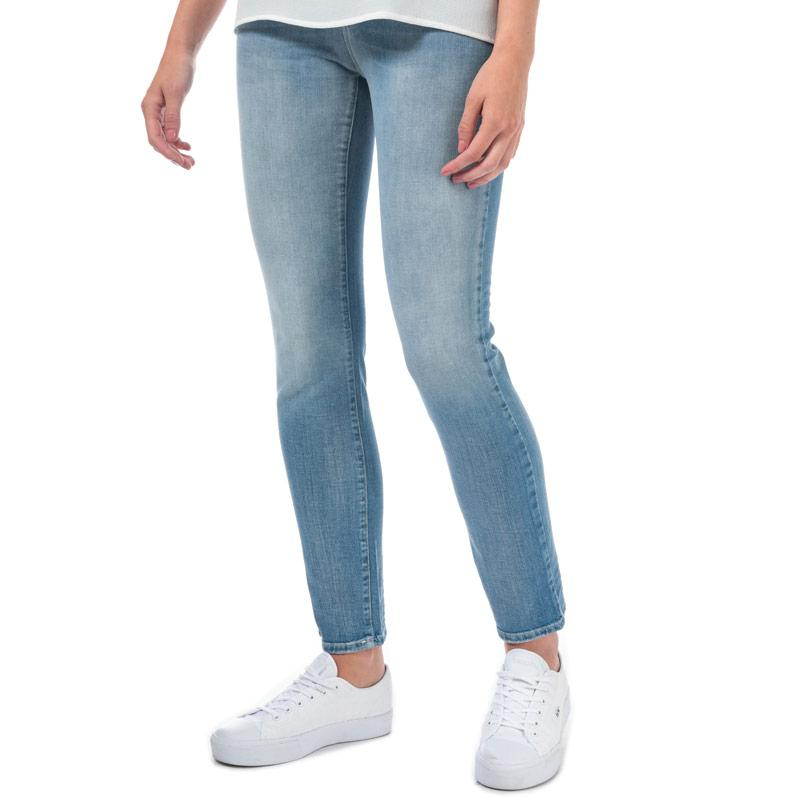 Armani Womens J18 Slim Fit Jeans Denim