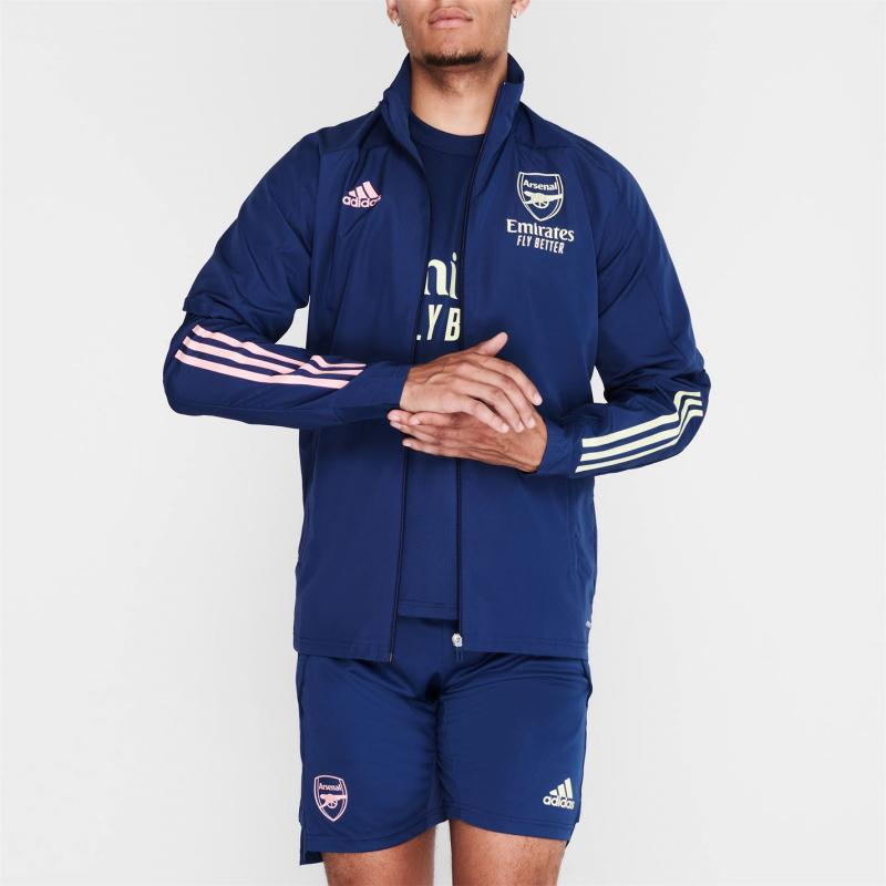 Adidas Arsenal Pre Match Jacket 2020 2021 Mens Navy