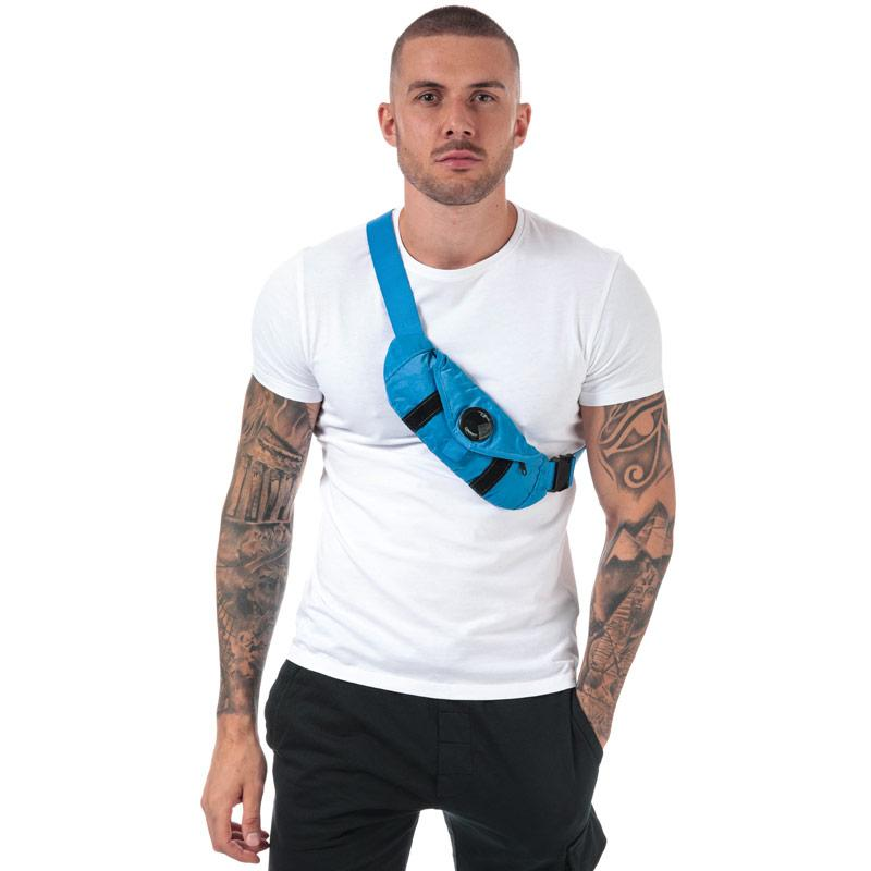 C.P. Company Garment Dyed Nylon Sateen Mini Waist Bag Blue