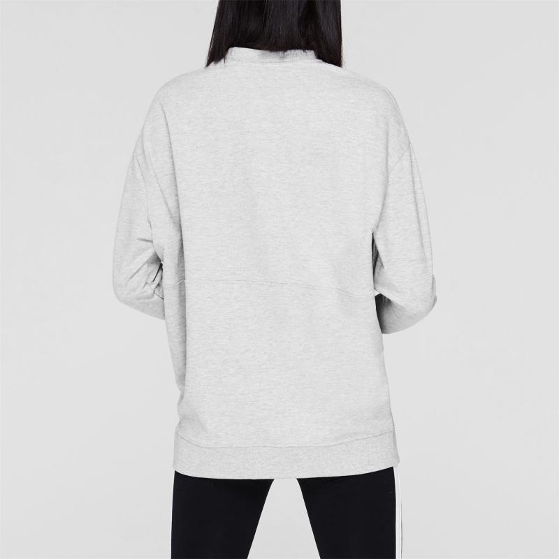 Mikina Lonsdale Crew Sweatshirt Ladies Grey Marl