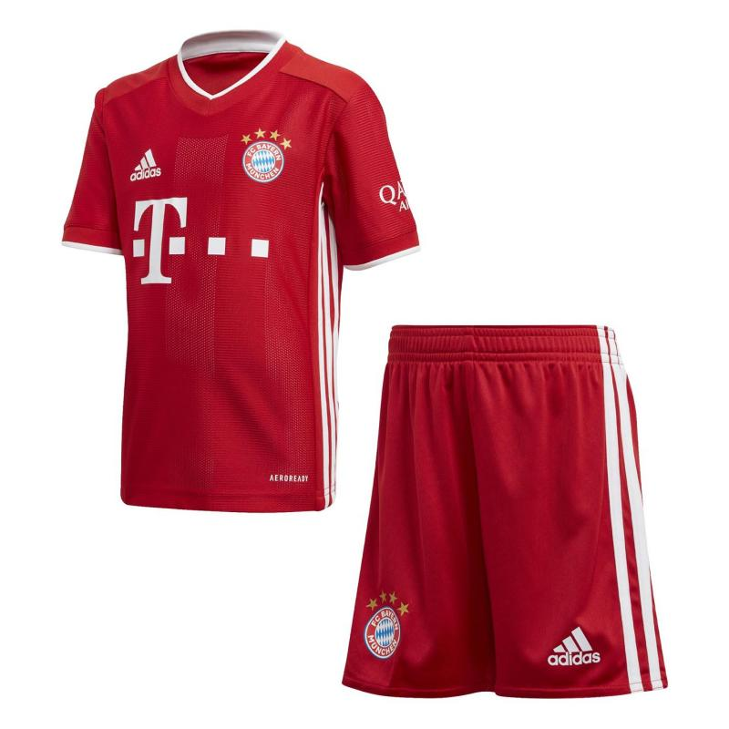 Adidas Bayern Munich Home Mini Kit 2020 2021 Red