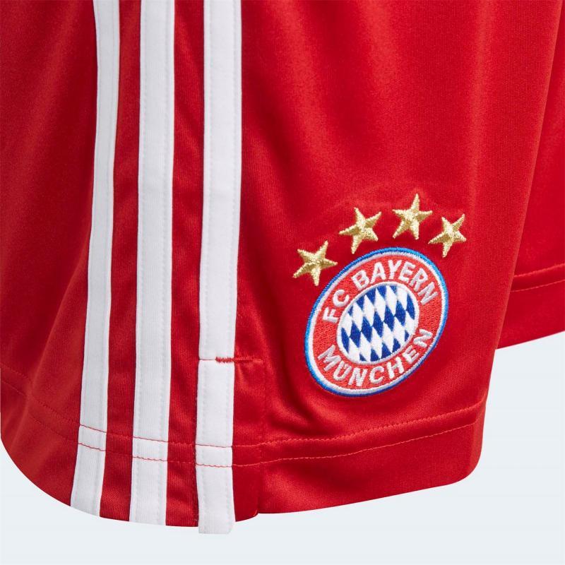 Adidas Bayern Munich Home Shorts 2020 2021 Junior Red