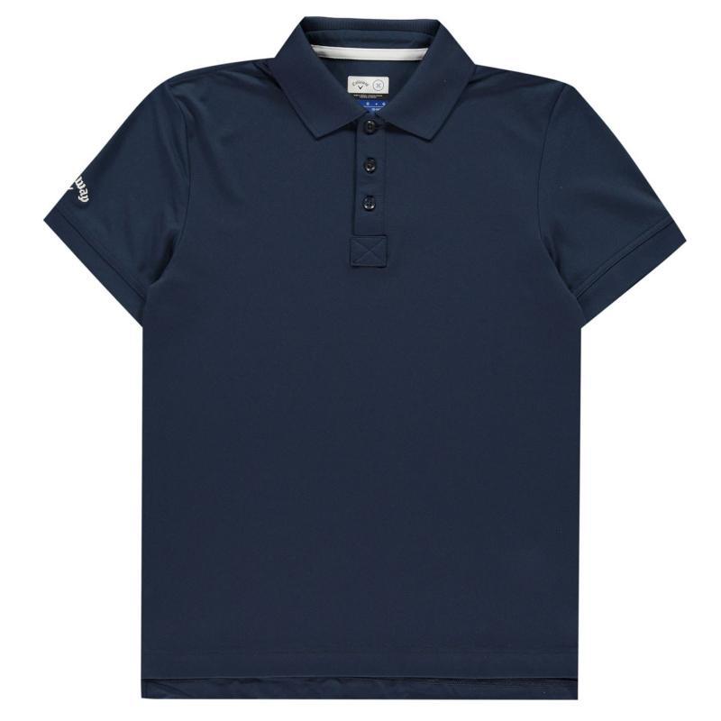 Tričko Callaway Solid Polo Shirt Junior Boys Dress Blue