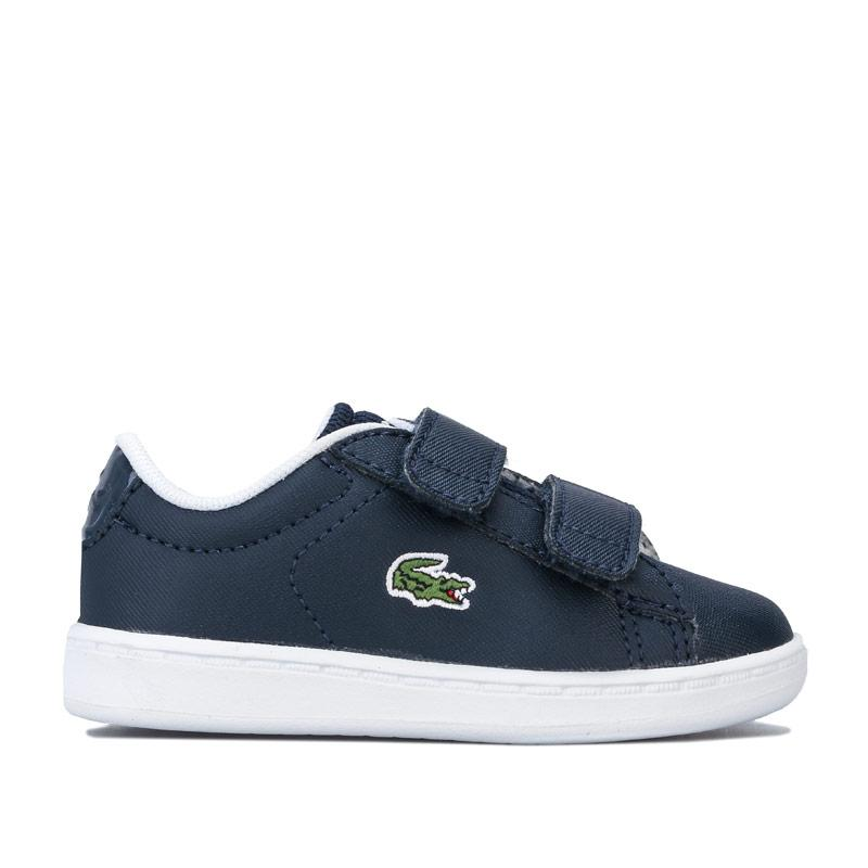Boty Lacoste Infant Boys Carnaby Evo Strap Trainers Navy