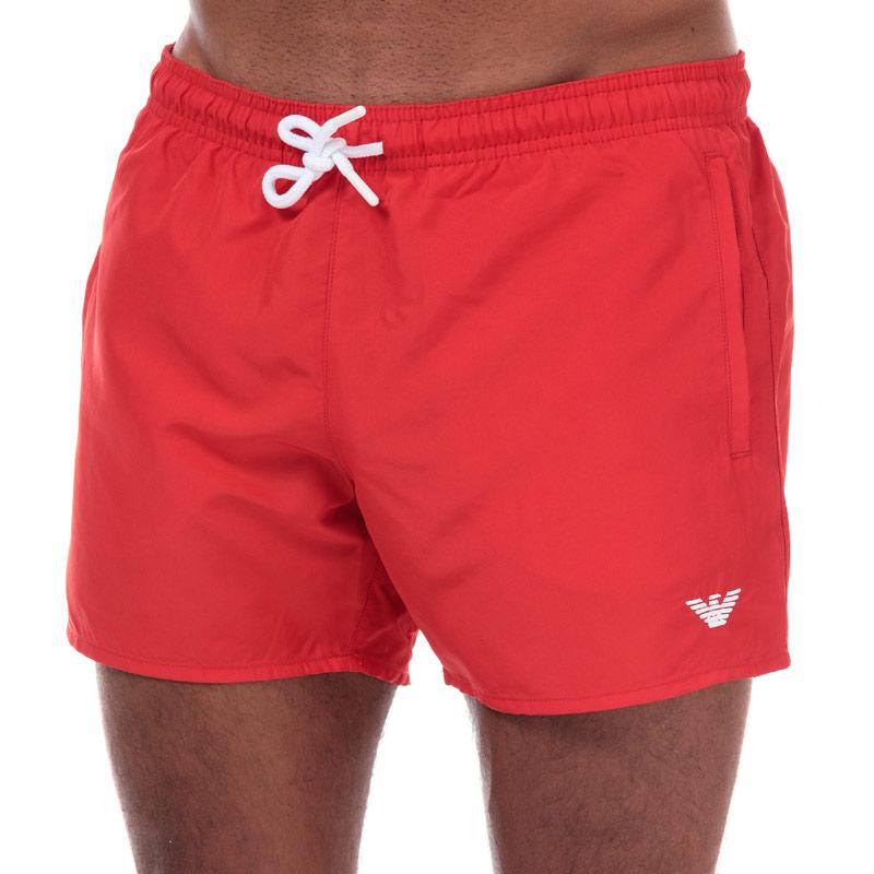 Armani Mens Swim Shorts Red
