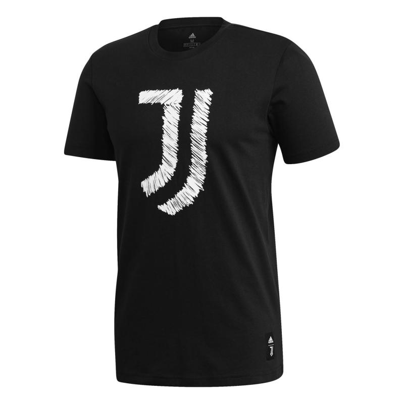 Adidas Juventus DNA T Shirt 2020 2021 Black/White