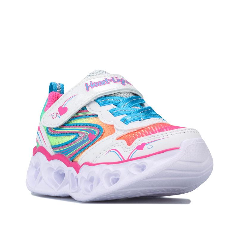Skechers Infant Girls Hearts Love Spark Trainers White