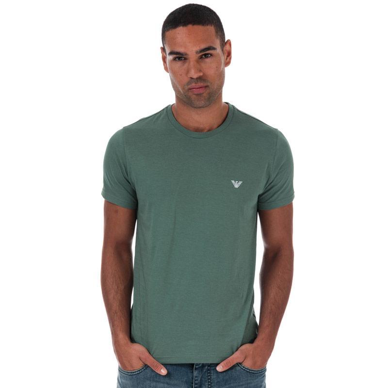 Tričko Armani Mens Small Logo T-Shirt Green