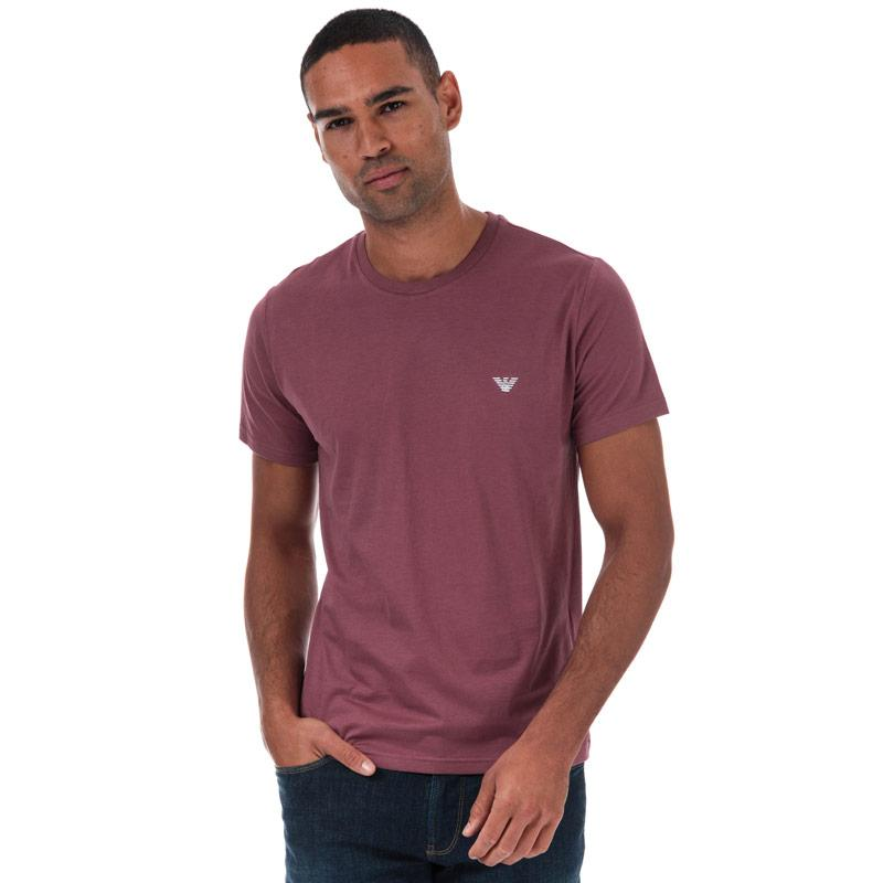 Tričko Armani Mens Small Logo T-Shirt Plum