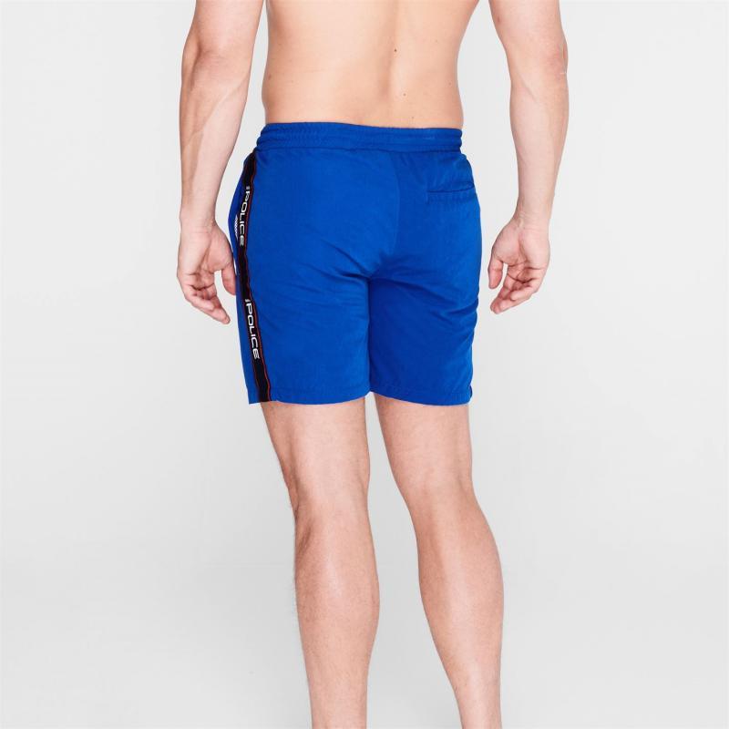 Plavky 883 Police Boiler Swim Shorts Elec Blue