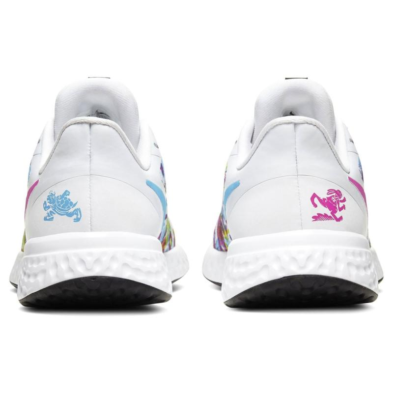 Nike Revolution Fable Trainers Junior Girls White/Flowers