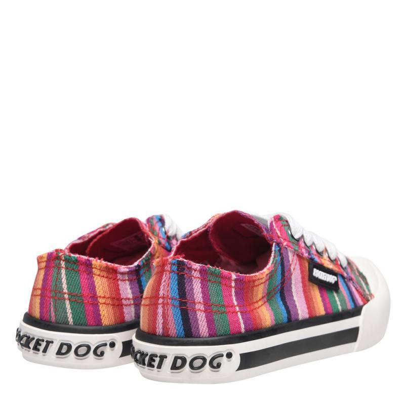 Rocket Dog Jazzin Junior Girls Canvas Trainers Red Stripe