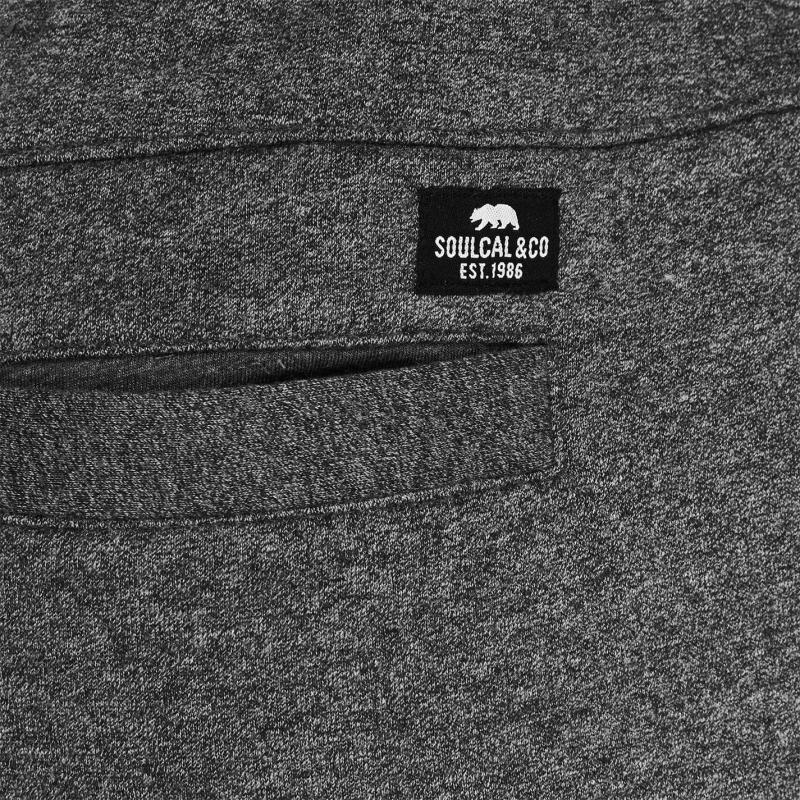 SoulCal Signature Fleece Shorts Mens Charcoal