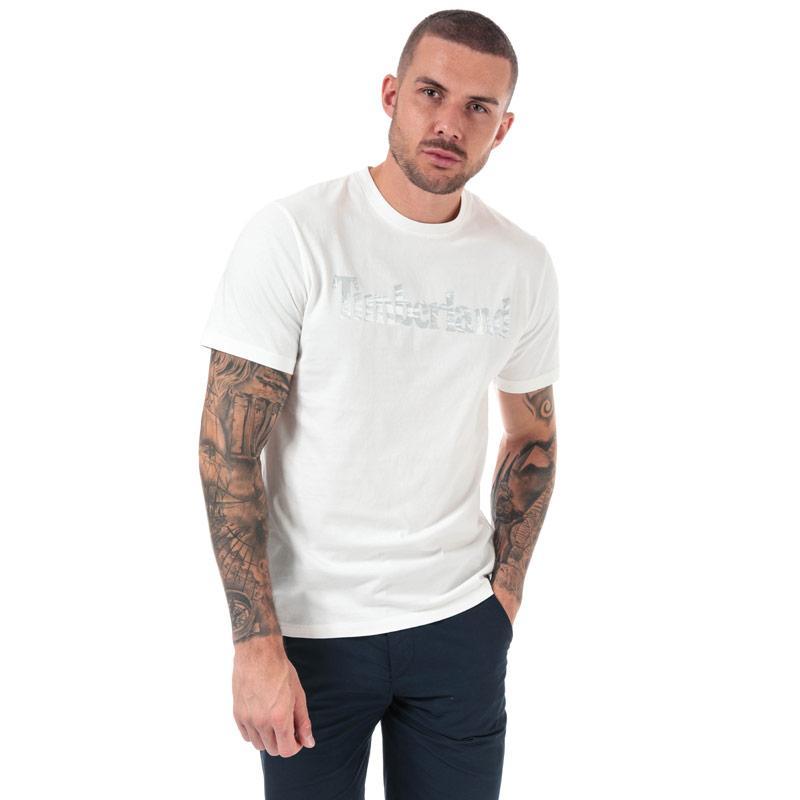 Tričko Timberland Mens Kennebec River Pattern Tree T-shirt White