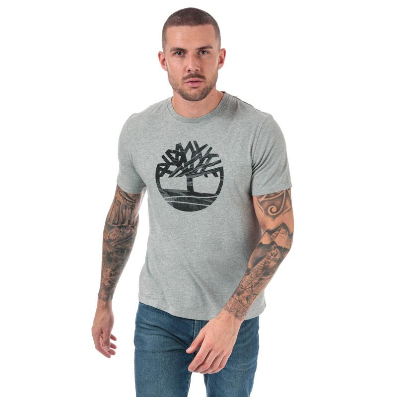 Tričko Timberland Mens Kennebec River Tree Logo T-Shirt Grey Heather
