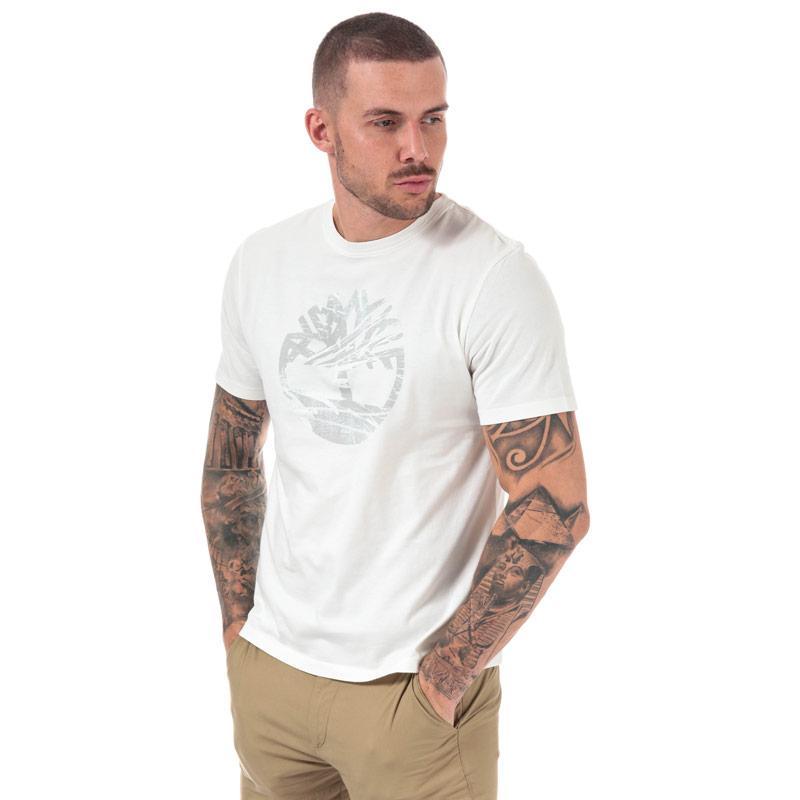 Tričko Timberland Mens Kennebec River Tree Logo T-Shirt White