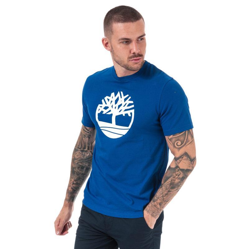 Tričko Timberland Mens Kennebec River Tree T-Shirt Blue