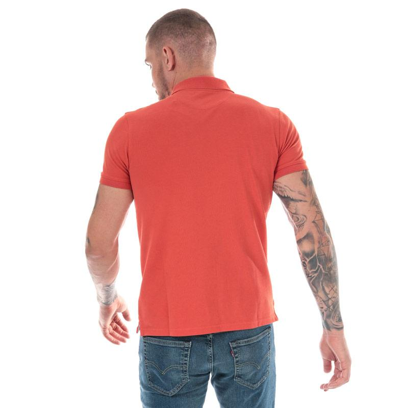 Timberland Mens Millers River Jacquard Polo Shirt Coral