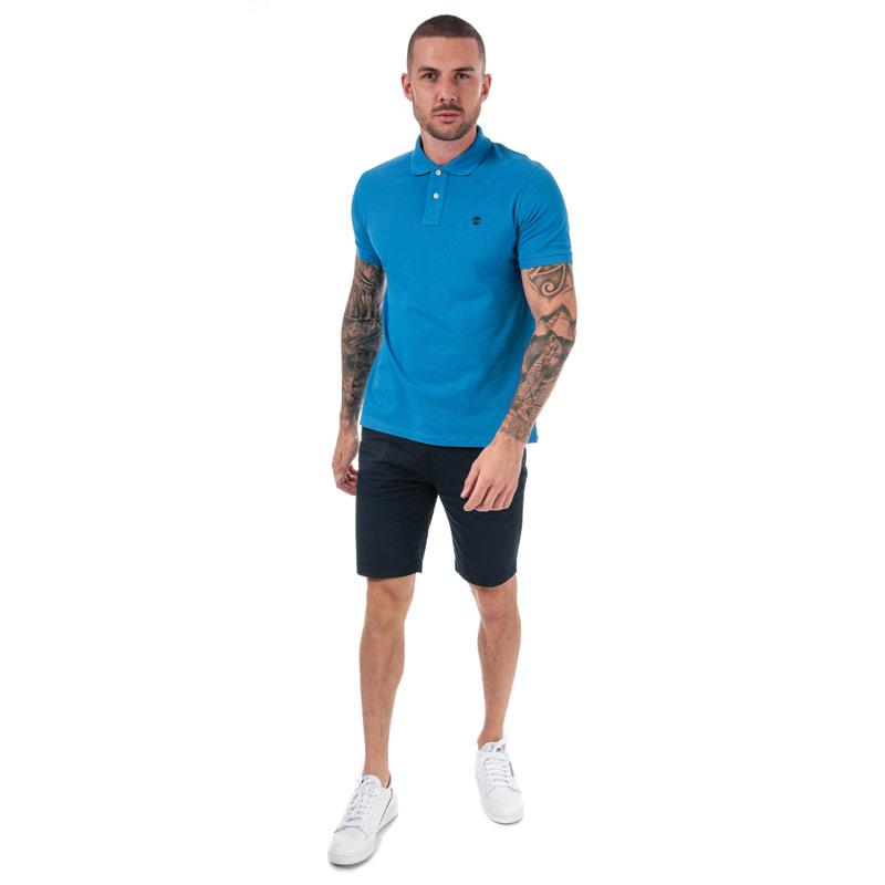 Timberland Mens Millers River Polo Shirt Blue