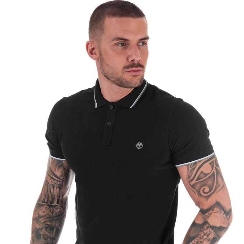 Timberland Mens Millers River Tipped Polo Shirt Black