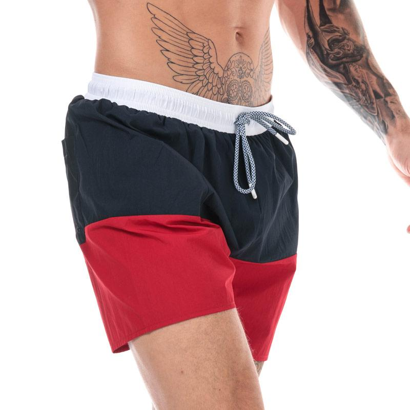 Timberland Mens Sunapee Lake Colourblock Swim Shorts Navy Red
