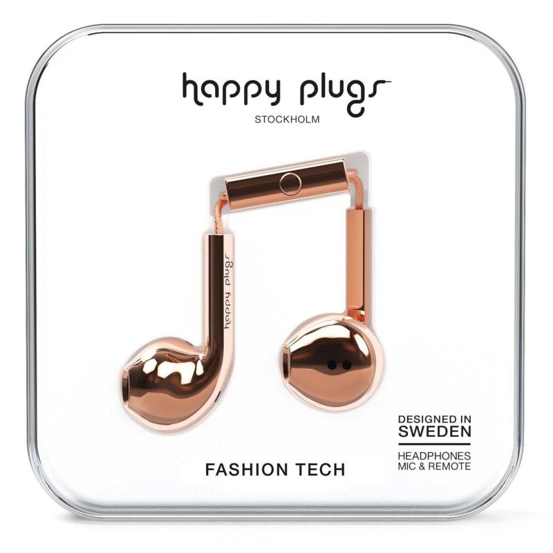 Happy Plugs Earbud Plus Rose Gold
