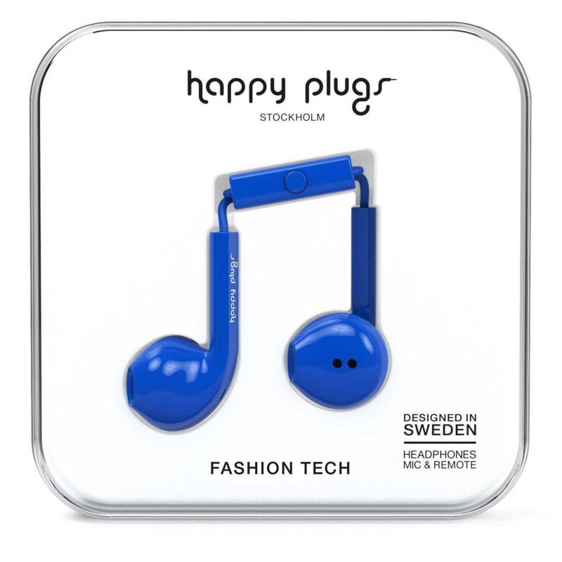 Happy Plugs Earbud Plus Cobalt