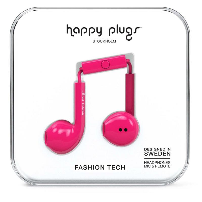 Happy Plugs Earbud Plus Cerise