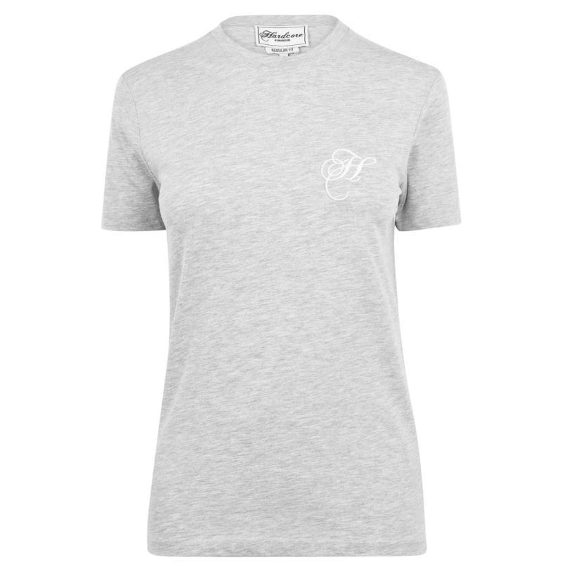 Hardcore Tiffany T Shirt Grey Marl
