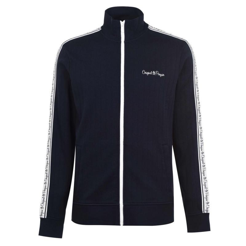 Mikina Original Penguin Taped Jacket 413 Dk Sapphire