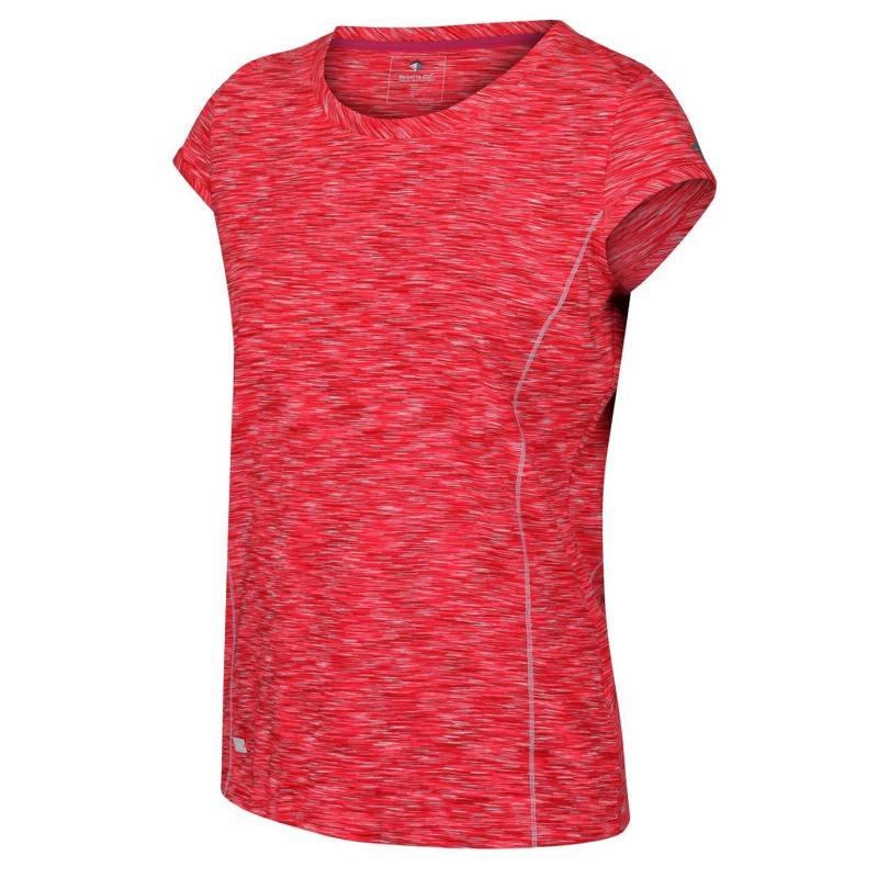 Regatta Hyper Short Sleeve T Shirt Neon Pink/White
