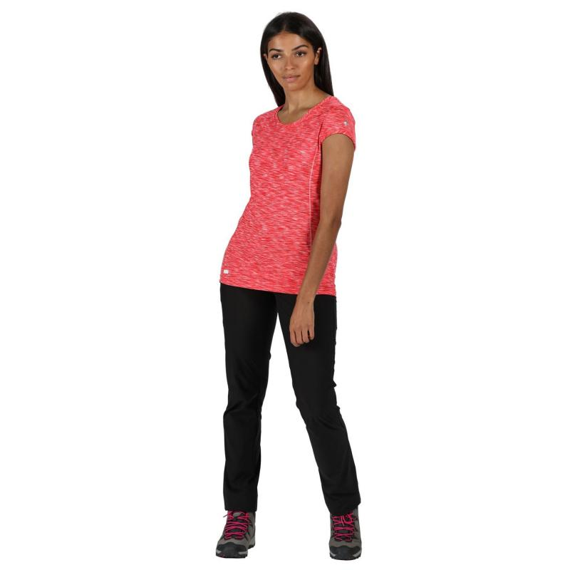 Regatta Hyper Short Sleeve T Shirt Neon Pink/White