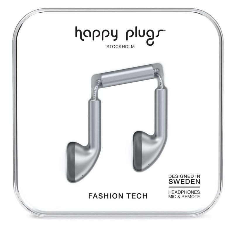 Happy Plugs Earbud Headphones Space Grey