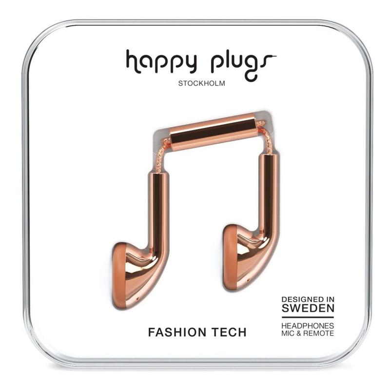 Happy Plugs Earbud Headphones Rose Gold