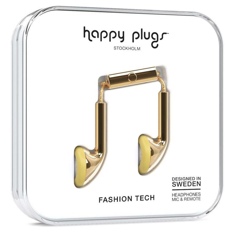 Happy Plugs Earbud Headphones Gold