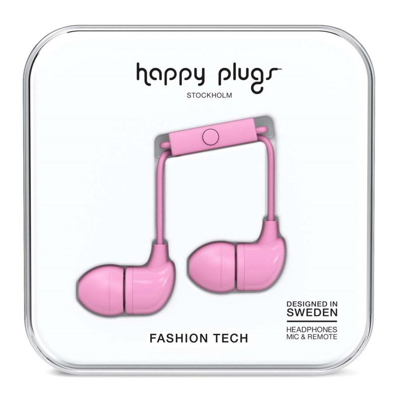 Happy Plugs In Ear Headphones Pink