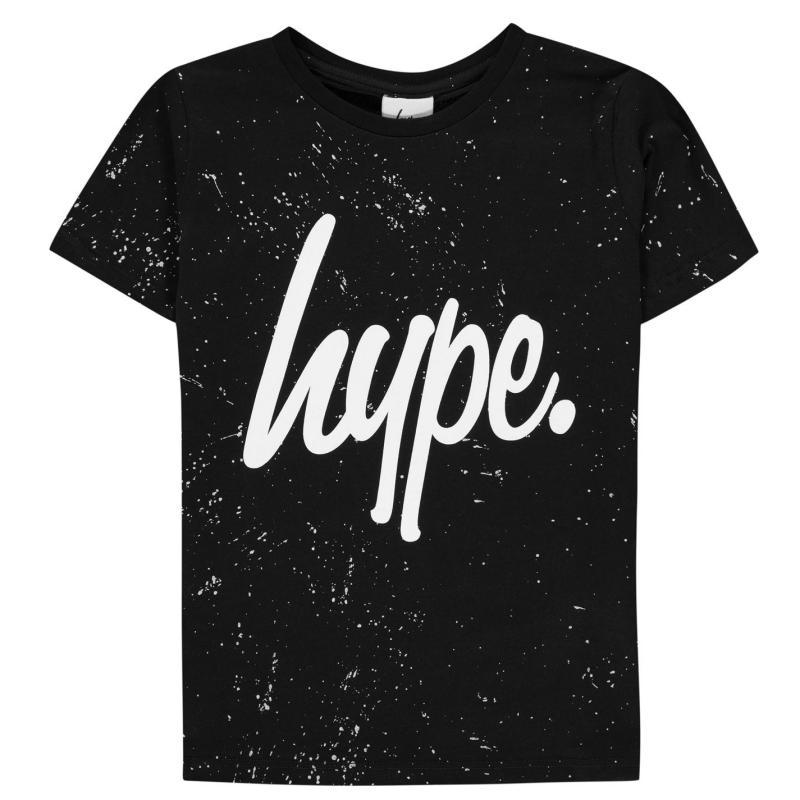 Tričko Hype Speckle Print T-Shirt Black/White