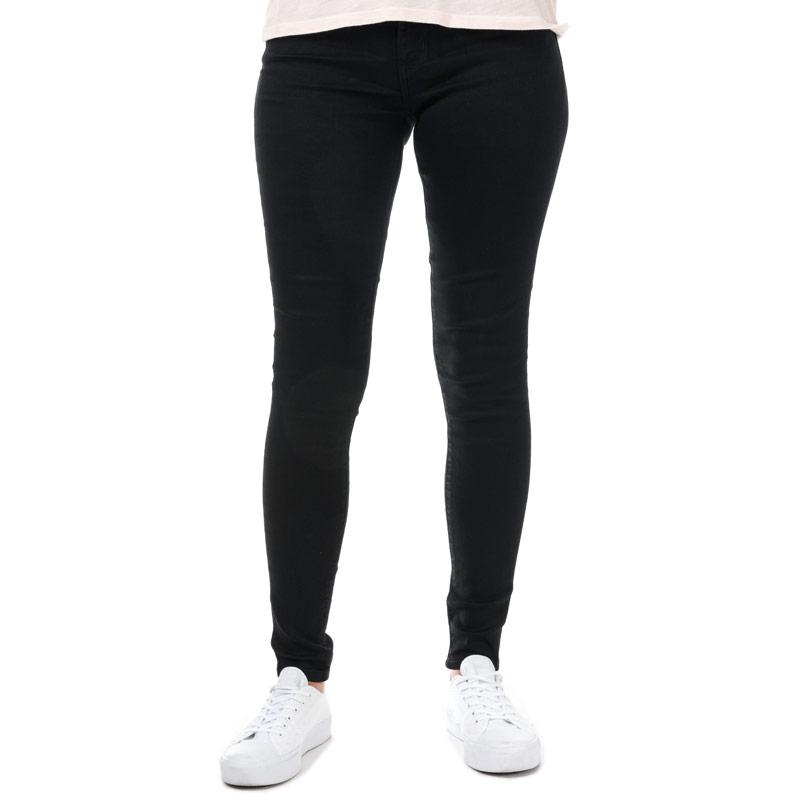 Levis Womens 710 Super Skinny Secluded Echo Jeans Black