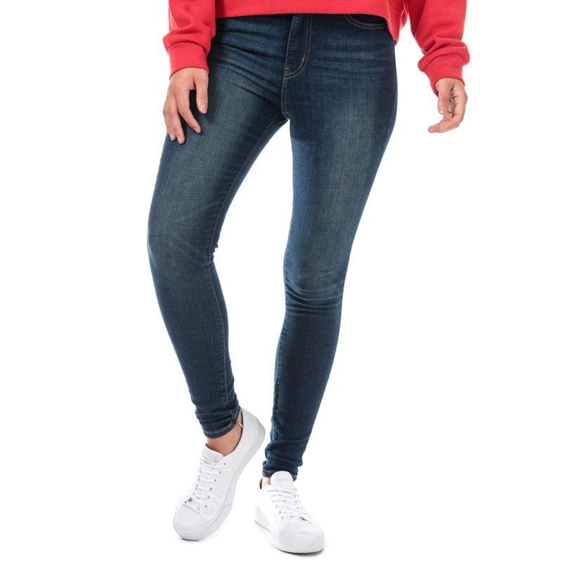 Levis Womens Mile High Super Skinny Jeans Dark Blue