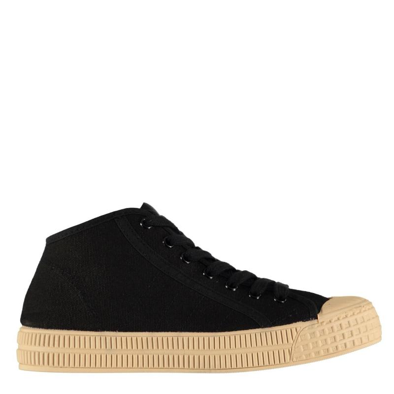 Full Circle Grunau Mid Trainers Black/Cream