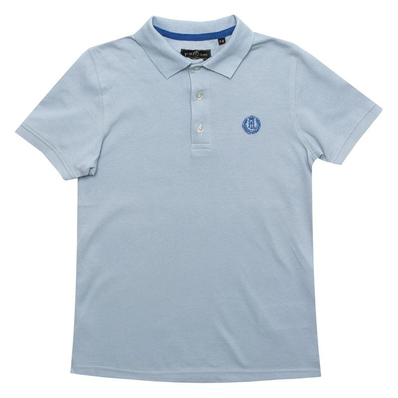 Tričko Henri Lloyd Junior Boys Pop Collar Polo Shirt Blue