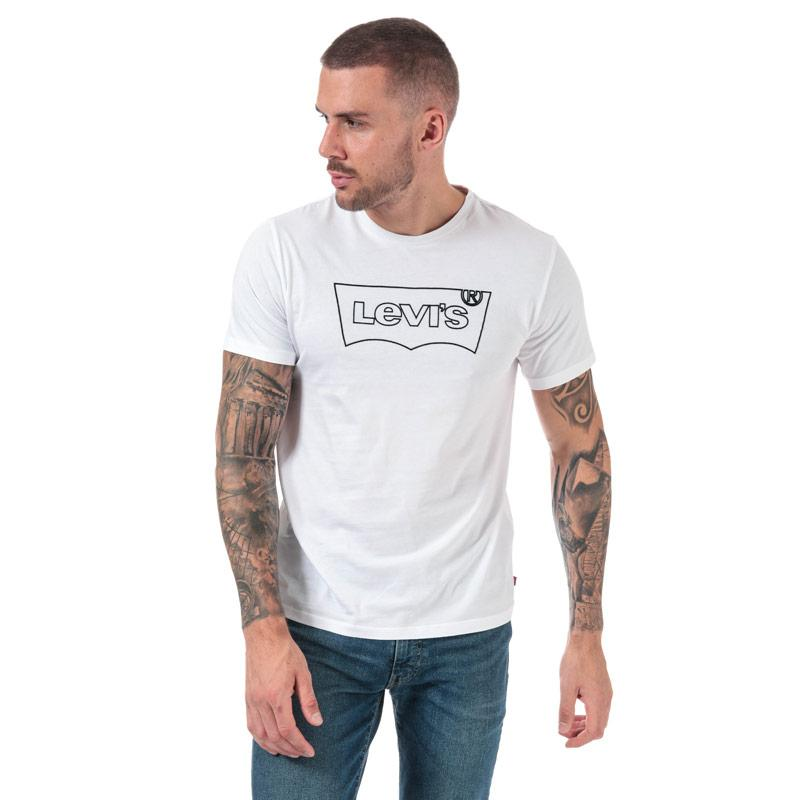 Tričko Levis Mens Housemark Outline T-Shirt White