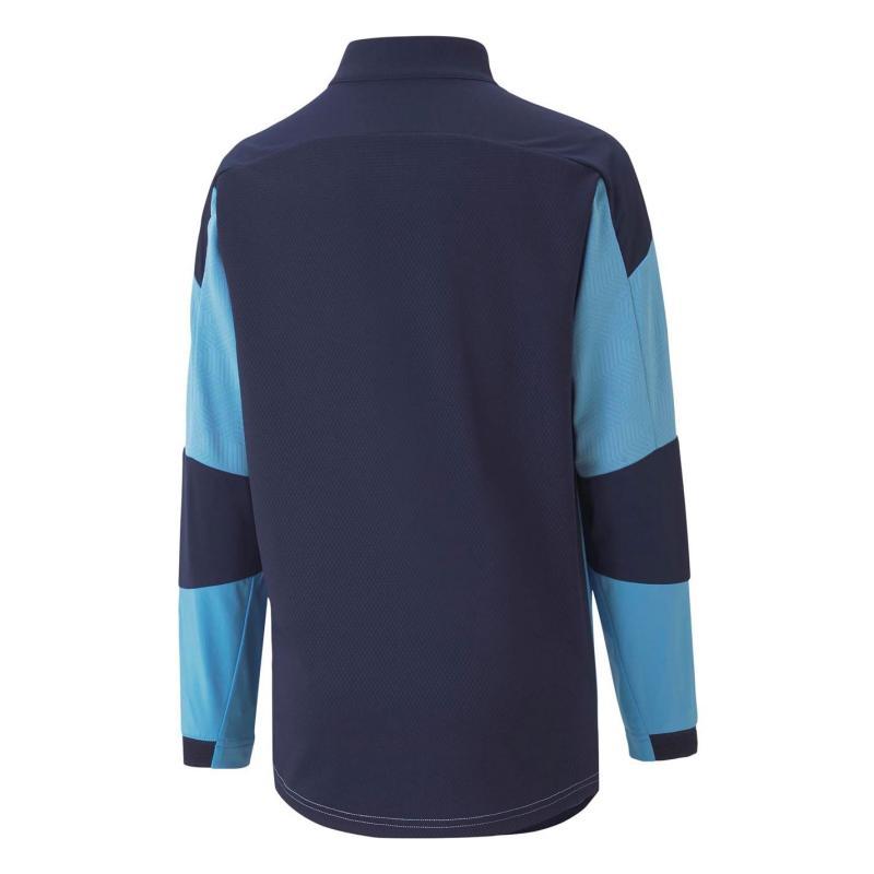 Puma Manchester City Quarter Zip Training Top 2020 2021 Junior Blue